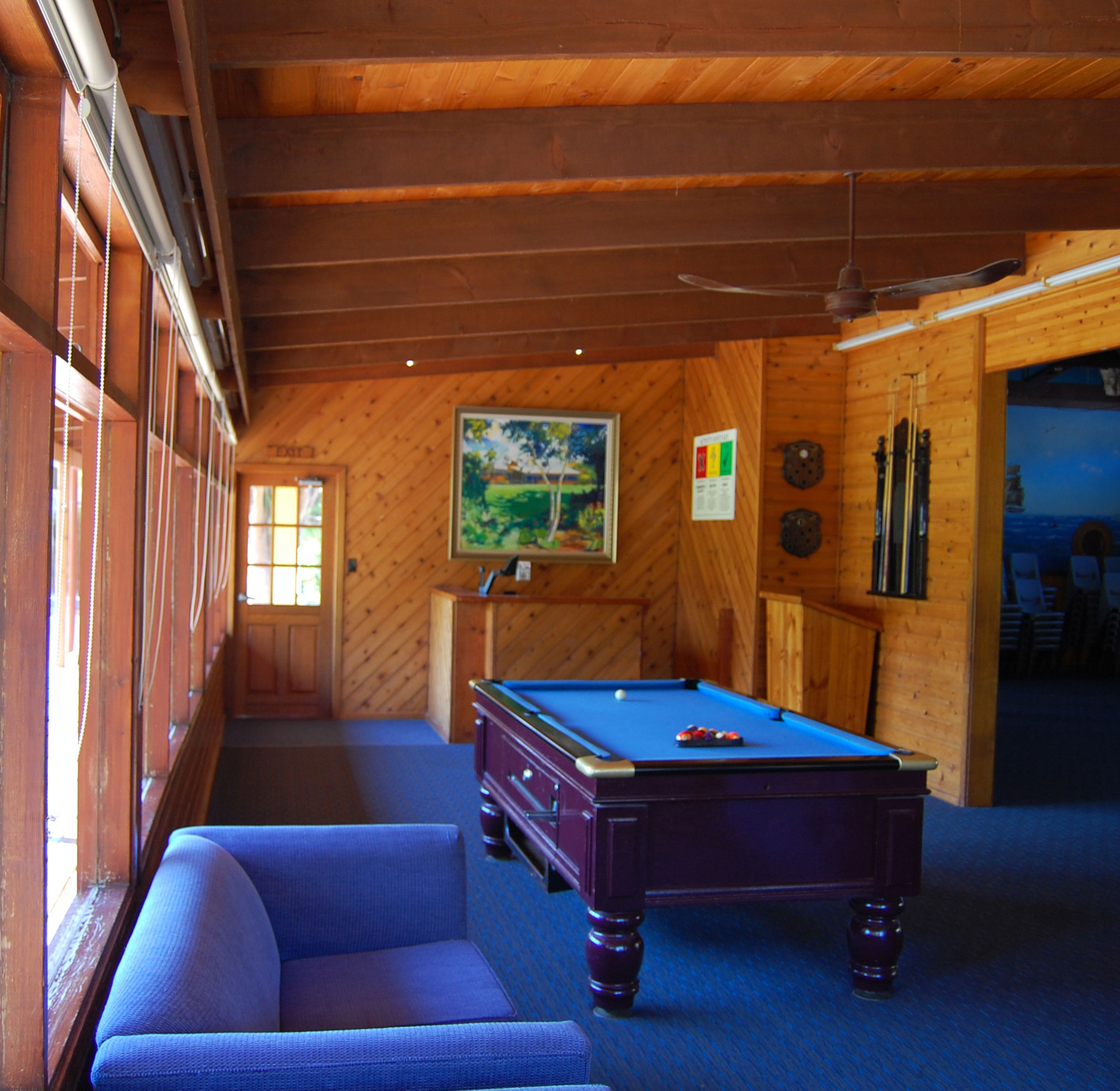 Image of the Reception area and Pool table